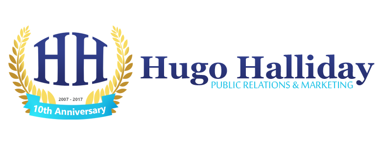Hugo Halliday 10th anniversary logo