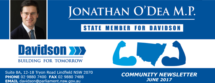 Jonathan O Dea June 2017 newsletter
