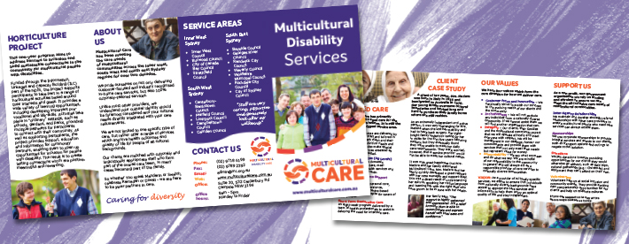 Multicultural care brochures