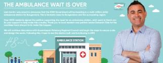 John Barilaro MP Ambulance Infographic brochure