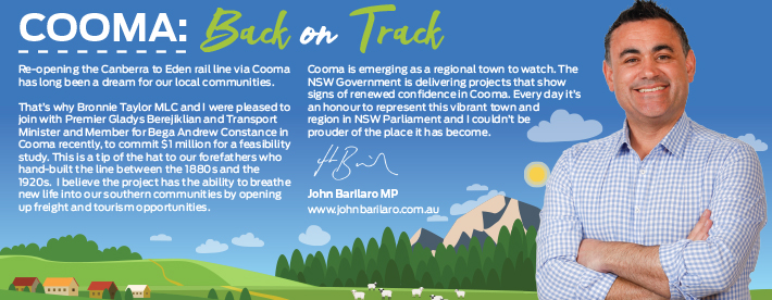 John Barilaro MP Cooma Dl Brochure